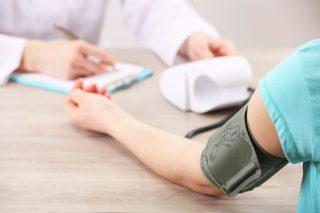 Measuring blood pressure close-up
